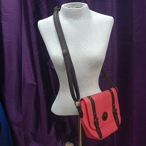 Handbags - Coral cross body faux leather bag